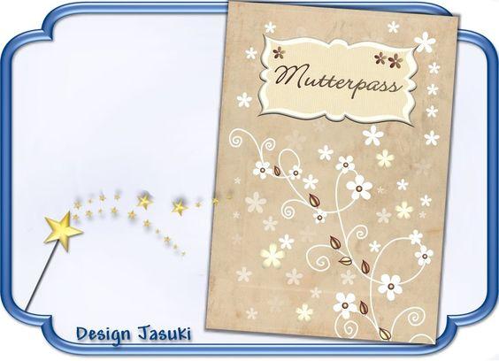 Mutterpass Hülle, beige/weiß Blümchen von Jasuki auf DaWanda.com