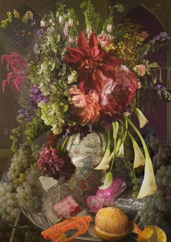 David LaChapelle still-life looks very vintage