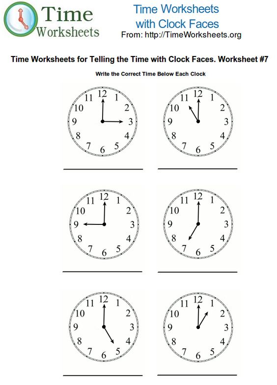 teaching time 1st grade – Online Worksheet for Kindergarten