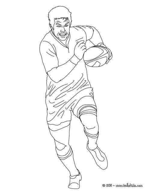 Drawings Of Rugby Players And Richard Mc Caw Rugby Player Coloring Pages Hellokids Rugby Players Rugby Pictures Rugby