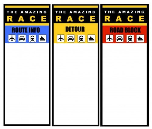 examples of amazing race clues clue template with made the race