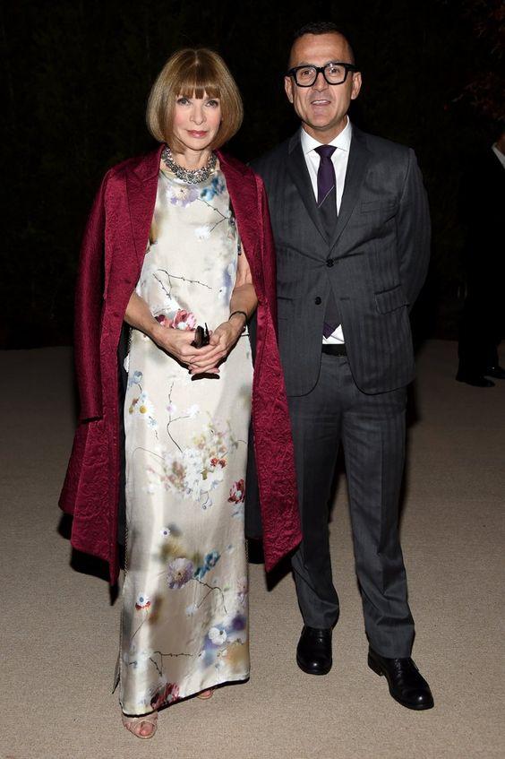 Pin for Later: Das war vielleicht die modischste Party des Jahres Anna Wintour und CFDA Präsident Steven Kolb