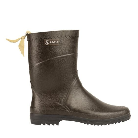 Bison ISO Brown Rubber Boots handcrafted