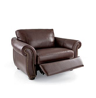 softaly colorado leather/match recliner chair-and-a-half. chair
