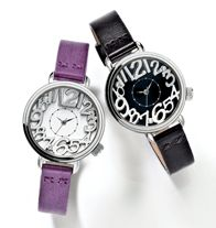 "Crunch Time Watch - Up-to-the-minute style with a flair for fun. Silvertone case. Rhinestone-accented dial. Leatherlike strap, 9"" L. Regularly $29.99, buy Avon jewelry online at http://eseagren.avonrepresentative.com/"