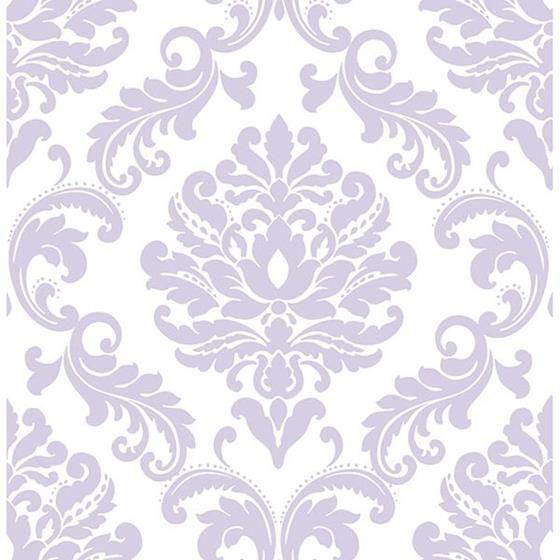 Nu1396 Purple Ariel Peel And Stick Wallpaper Nuwallpaper Damask Wallpaper Nuwallpaper Peel And Stick Wallpaper