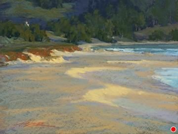 Carmel River Sunset by Kim Lordier Pastel ~ 12 x 16