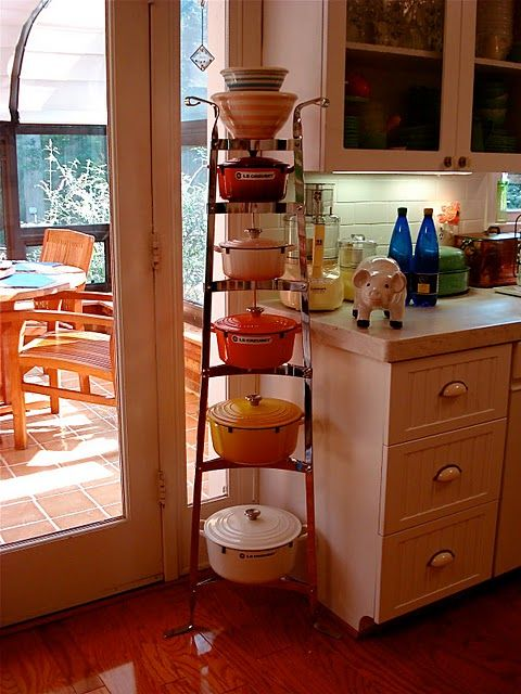 Tower of Le Creuset! Looks like my kitchen. I'm still missing two pans though.