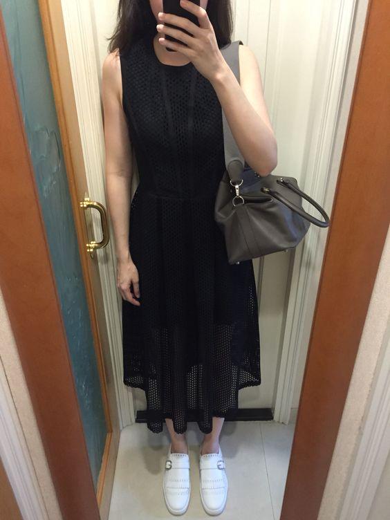christian loui vuitton shoes - Sandro perforated dress, Christian Louboutin Club Flats, Hermes ...