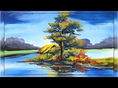 Acrylic Painting Beautiful Riverside Scenery Painting Scenery Paintings Landscape Paintings Acrylic Painting