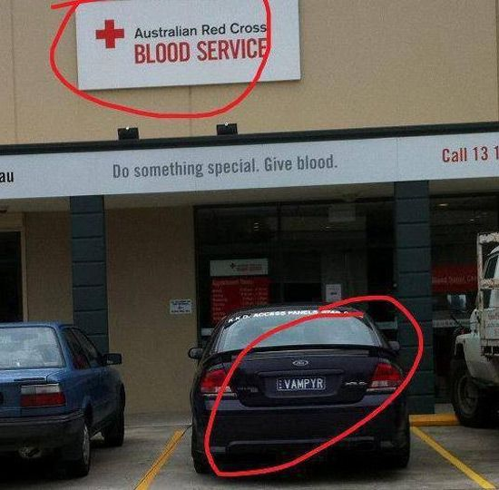 ☻☻☻ FUNNY SIGNS ☻☻☻ ~ Give blood?: