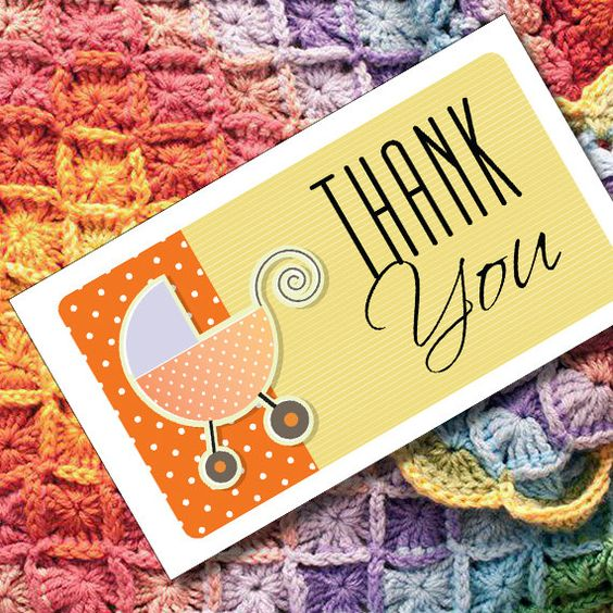 Thank You Cards or Tags for Handmade Baby Shower by MadMadGraphics, $4.00