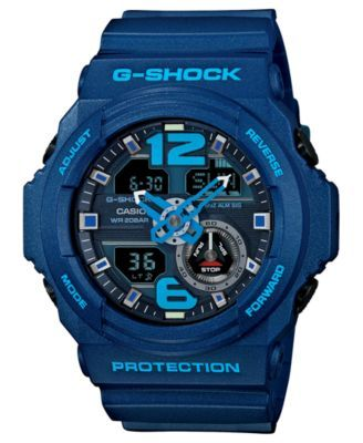 G-Shock Men's Analog-Digital Chronograph Blue Resin Strap Watch 55x52mm GA310-2A - Watches - Jewelry & Watches - Macy's