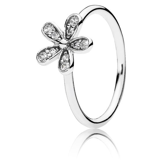 Pandora Ring Glanzvolles Gänseblümchen 190932CZ Sterling Silber