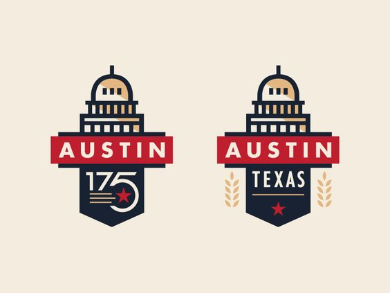 Austin 175th Anniversary Logo By Steve Wolf Logos And