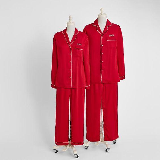 His And Hers Matching Christmas Pajamas: Pajamas, Couple And Pjs On Pinterest