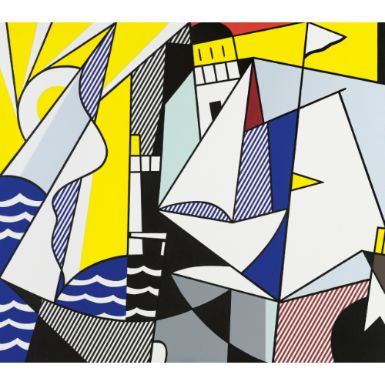 ROY LICHTENSTEIN (1923 - 1997). SAILBOATS III. Sold @ $11,842,500.00. New York- Sotheby's | 09 May 2012 | N08853 | Lot 26