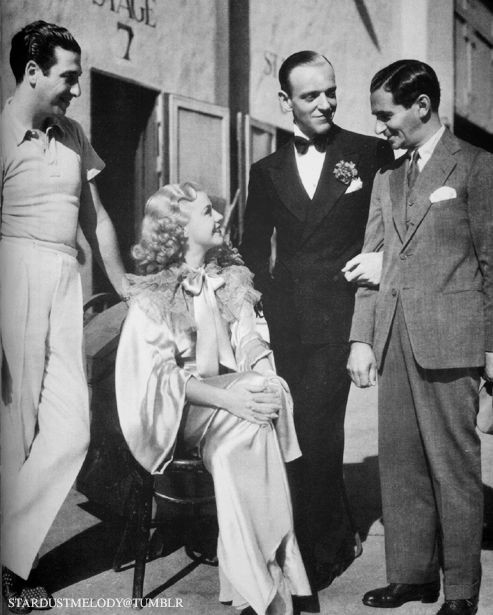 Mark Sandrich, Ginger Rogers, Fred Astaire, and Irving Berlin