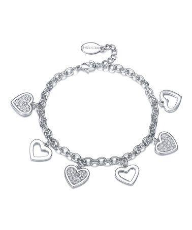 MESTIGE Silver Dalliance Bracelet Made With SWAROVSKI ELEMENTS by MESTIGE #zulily #zulilyfinds