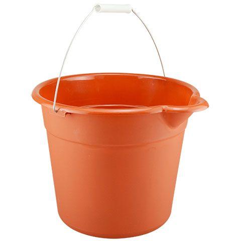Red Plastic Buckets With Handles 9 Qt Plastic Buckets Bucket Plastic Pail