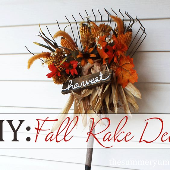 DIY: Fall Rake Decor (Hometalk)