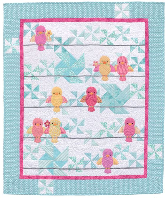 "Ready for a dose of downright darling baby quilts? Start with simple patchwork backgrounds; add a dash of adorable appliqué animals. Click through for more ""Awww!"" inspiring quilts from the new book Animal Parade 2.:"
