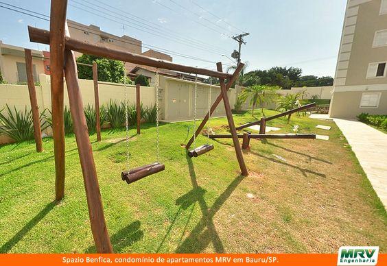 Playground do Spazio Benfica. Condomínio fechado da MRV Engenharia em Bauru/SP.