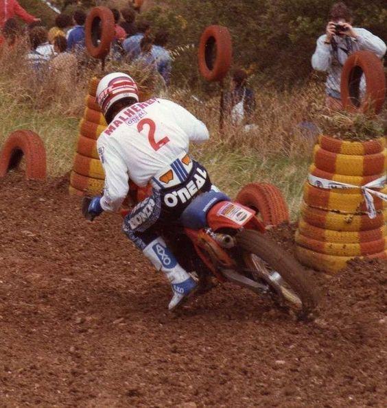 André malherbe # vintage # 80's # motocross # Honda