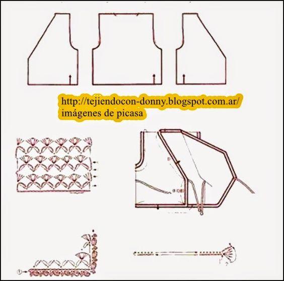 CROCHET - GANCHILLO - PATRONES - GRAFICOS: CAMPERITA BEBE