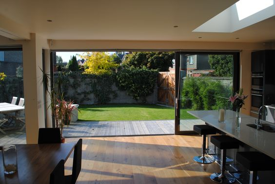 Sliding or bifold doors. I can't make up my mind