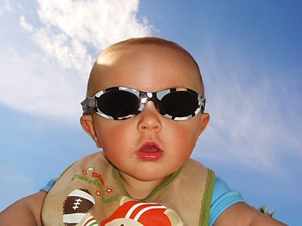 I don't think they had sunglasses like this for babies when I was won. Awfully cute, aren't they?