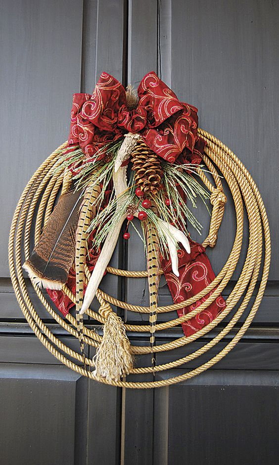 Wreaths are a traditional holiday decoration, but there's no need to stick with the same ol' overdone evergreens. Try Chili Peppers, horseshoes and sunny citrus for a fresh twist on a holiday classic. More