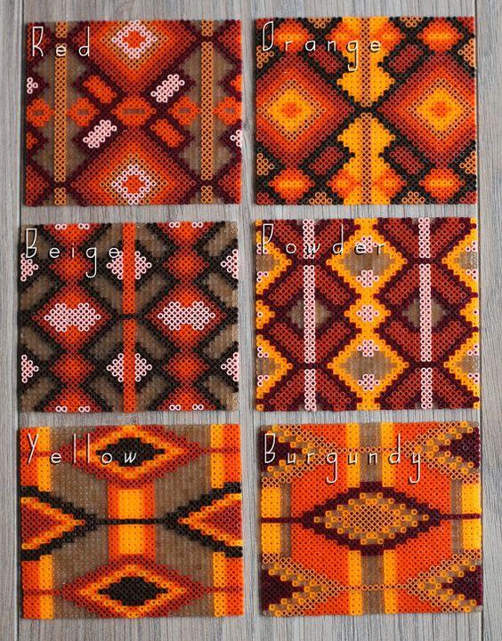 PROMO un Coaster azteco indiano ispirazione a mano di Leminussieu