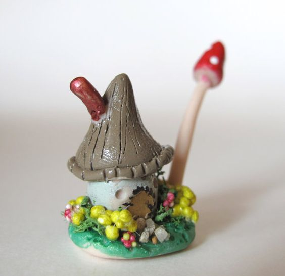 Tiny miniature cottage for terrarium fairy garden by UnInhibited, $18.00