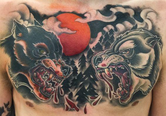 Wolf chest piece