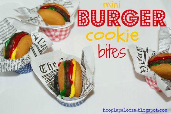 burger cookie bites