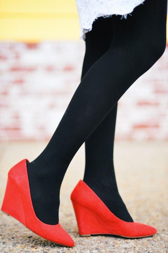 Red Shoes  http://zunera-serena.com/lace-cape-dress/