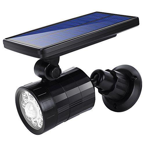 Grde Lamparas Solares Ultra Brillante Luces De Exterior 8led 4 Modos 800 Lm Impermeable Ip65 Focos Solares Con Sensor De Movimient Focos Lamparas Led