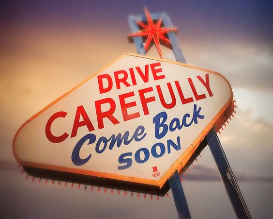 Drive Carefully Sign Mid Century Photography by WPThayerFineArt