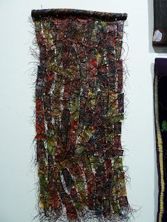 Donna Clement: July 2011 - Fibre, encaustic, oil stick, waxed linen, knotting, stitching.