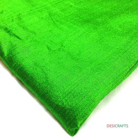 Spring Green Dupioni Silk - Raw Silk from India – DesiCrafts