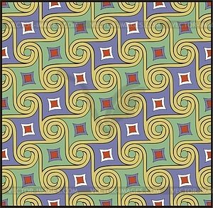 Ancient Egyptian ornamental pattern - vector clipart