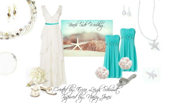"""For the Bride or beachgoer: """"Daydream"""" necklace and earrings. """"Alpha"""" bracelet.   For the Bridesmaids: """"Starfish"""" necklace and ring. """"Emily"""" earrings."""