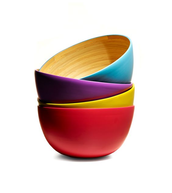 An inviting stack of colorful bowls, waiting to be filled with scrumptious delights...cc