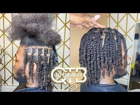 Qthebraider Double Strand Twist Very Detailed Male Edition Youtube Twist Hair Men Hair Twist Styles Double Strand Twist