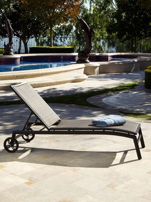 Patio Chaise Lounge With Wheels That Adjusts Socialwicker For The Home