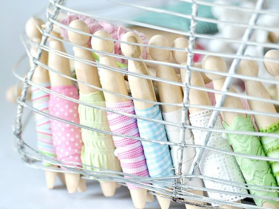 Basket of organized ribbons by toriejayne, via Flickr: