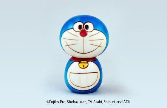 new doraemon kokeshi wood doll traditional limited japan f s