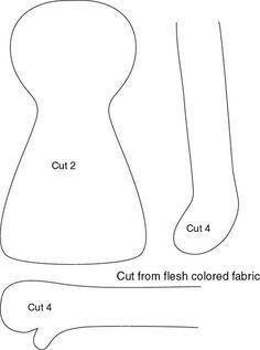 Como hacer muñecas con moldes