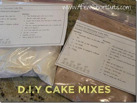 Yellow or chocolate cake mix